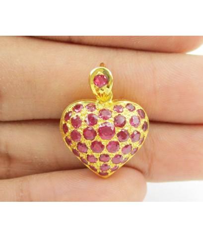จี้ ทับทิม หัวใจ เปิดได้ ทอง90 งานสวย น่ารักมาก นน. 4.94 g