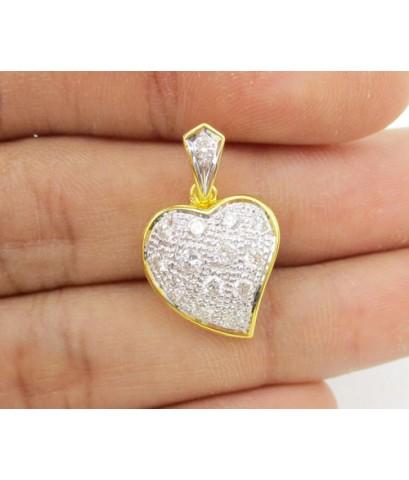 จี้ เพชรหัวใจ เพชร 14 เม็ด 0.55 กะรัต ทอง90 งานสวย น่ารักมาก นน. 3.45 g