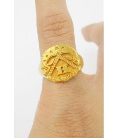 แหวน ปีกกา อักษร H ทอง100 ทองเก่า งานโบราณ นน. 7.58 g