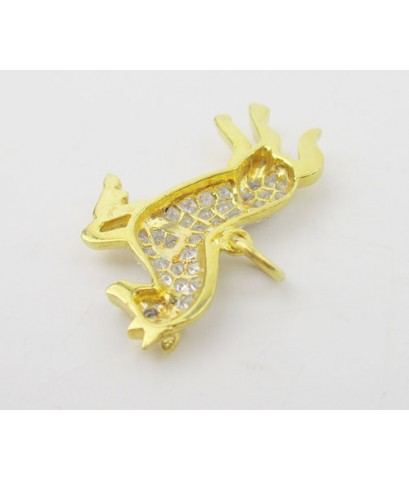 จี้ ม้าทองคำ ฝังเพชร 36 เม็ด 0.40 กะรัต ทอง90 หลุดจำนำ งานสวยมาก นน. 4.53 g
