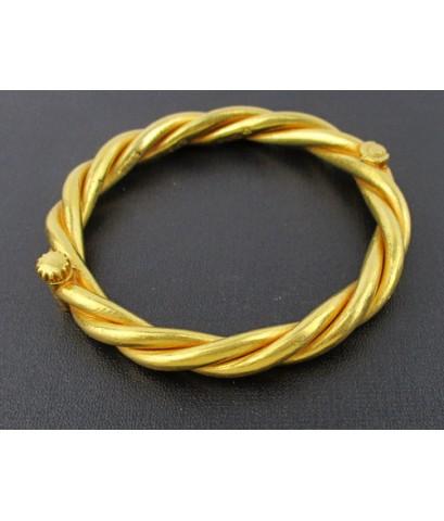 กำไล ทอง100 ลายเกลียว ซาโก้ ทองเก่า งานโบราณ หายาก นน. 75.88 g