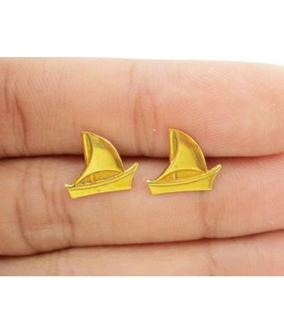 ต่างหู รูปเรือใบ ทอง90 งานสวย น่ารักมาก นน. 1.20 g