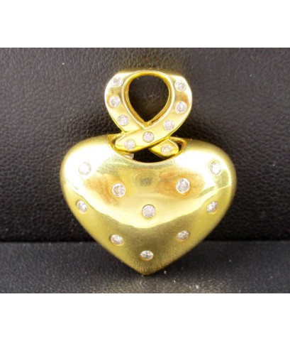 จี้ หัวใจ ฝังเพชร 19 เม็ด 0.35 กะรัต ทอง90 งานสวย น่ารักมาก นน. 8.07 g
