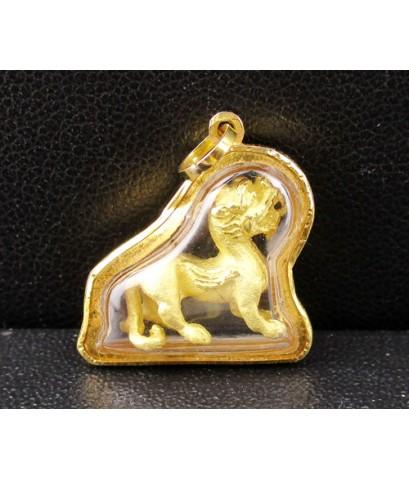 จี้ ปี่เซียะ กะไหล่ทอง เลี่ยมทอง งานสวย ความหมายดี นน. 2.30 g