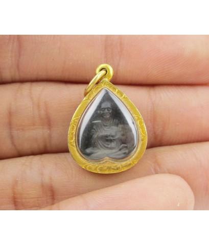 เหรียญใบโพธิ์ สมเด็จพุฒาจารย์โต วัดระฆังโฆสิตาราม เลี่ยมทองเก่า นน. 3.28 g