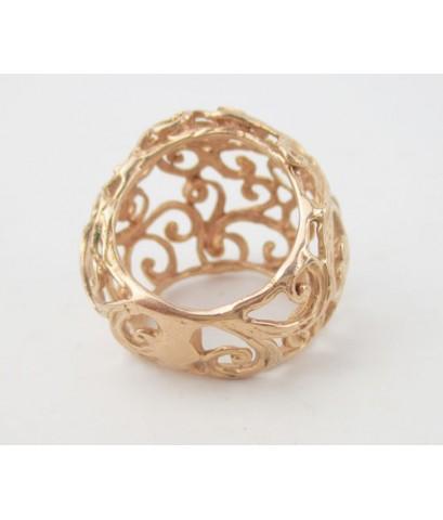 แหวน นาก40 ฉลุลาย เถาวัลย์ งานเก่า หลุดจำนำ นน. 10.73 g