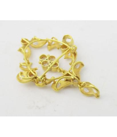 จี้ + เข็มกลัด เพชรซีก ตุ้งติ้ง ทอง90 งานเก่า หลุดจำนำ สวยมาก นน. 5.65 g