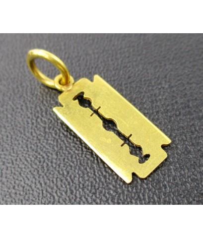 จี้ ใบมีดโกน ทอง90 งานเก่า หลุดจำนำ สวยมาก นน. 0.98 g