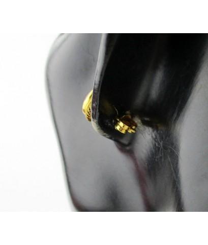 ต่างหู ทับทิม หลังเบี้ย เม็ดเดี่ยว 2 เม็ด ทอง90 งานเก่า หลุดจำนำ สวยมาก นน. 3.03 g