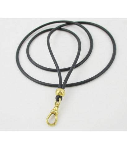 สร้อยคอ ยางโอริง สปริง ก้ามปู คั่นเม็ดทอง ห้อยพระ ทอง90 งานเก่า หลุดจำนำ นน. 5.50 g