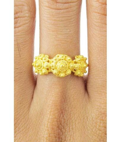แหวน กระดุมดอกบัว สัตตบงกช 3 ดอก ทอง96.5 งานสวยมาก นน. 6.24 g