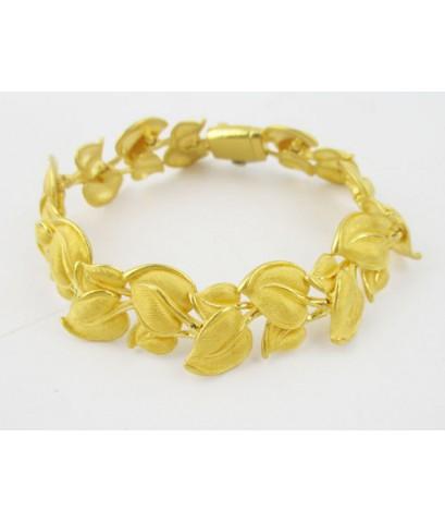 สร้อยข้อมือ Prima Gold ทอง24K ลายใบไม้ รอบเส้น งานสวยมาก นน. 42.98 g