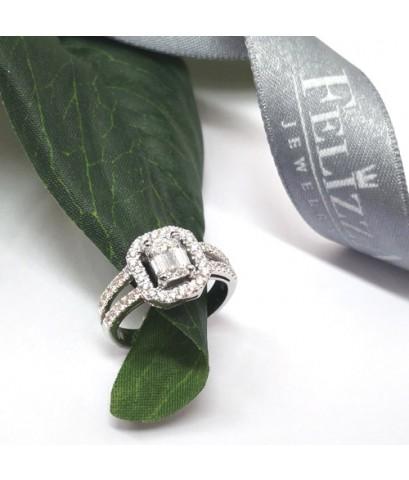 แหวนเพชรแท้เบลเยี่ยมคัท  RI20610-289