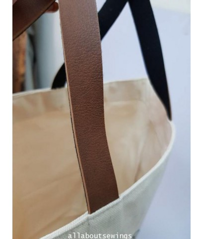 กระเป๋าสะพาย ผ้าแคนวาส ผ้าดิบ Logo Mitphol