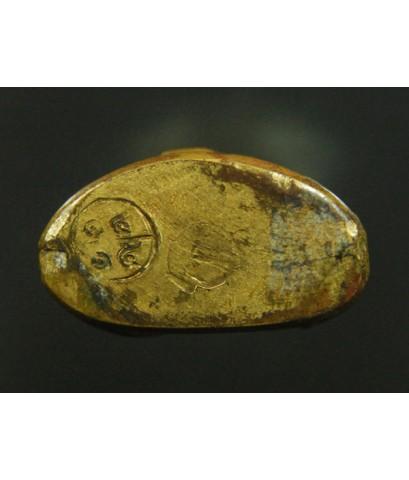 หลวงพ่อเงิน ปี15 วัดมูลเหล็ก เนื้อทองเหลืองฐานแคบ (รักบี้) ตอกโค๊ตชัด สภาพสวย