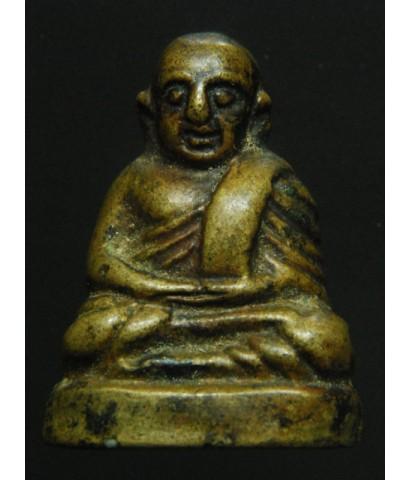 หลวงพ่อเงิน บางคลาน ก้นเลข ๑ วัดห้วยเขน (พิมพ์เล็ก) เนื้อทองเหลืองเก่าสวย ปี25