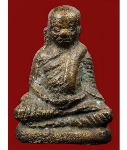 รูปหล่อโบราณพิมพ์เล็ก หลวงพ่อเงิน บางคลาน วัดท่ามะไฟ เนื้อทองผสม ปี 2420 (พระโชว์)