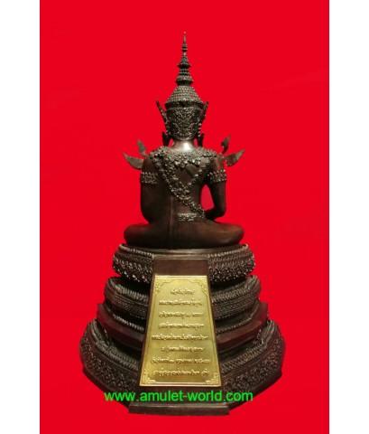 พระพุทธรูปทรงเครื่องจักรพรรดิ์ สมาคมสภาผู้สูงอายุแห่งประเทศไทยฯสร้าง โลหะผสม ตัก 5 นิ้ว (องค์ที่ 3)