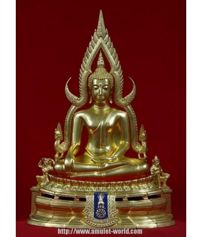 พระพุทธชินราช ภปร กองทัพภาคที่๓ ปี 2517 9นิ้ว ปิดทอง