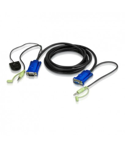 5M VGA/AUDIO CABLE BUILT-IN PORT SWITCHING รุ่น  2L-5205B
