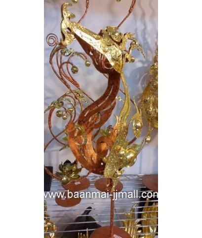 หัวสุพรรณหงส์ทองคำมีเชิงเทียนหอม 1 จุด