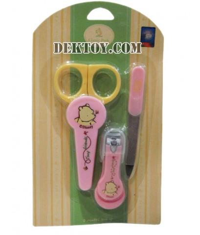 ชุดกรรไกรตัดเล็บเด็กหมีพูห์ สีชมพู