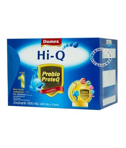 นมผงดูเม็กซ์ ไฮคิว พรีไบโอโพรเทก1-Dumex Hi-Q Prebio ProteQ 1 (1800g)