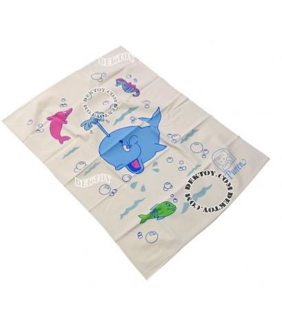 ผ้ายางแผ่นเรียบเพียวรีนไซส์ L ลายโลมา 60 x 90 ซม. 212150
