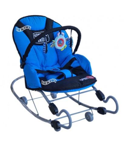 Firstfeels เปลโยกเด็กขนาดใหญ่ขาสปริง FF 482 สีน้ำเงิน