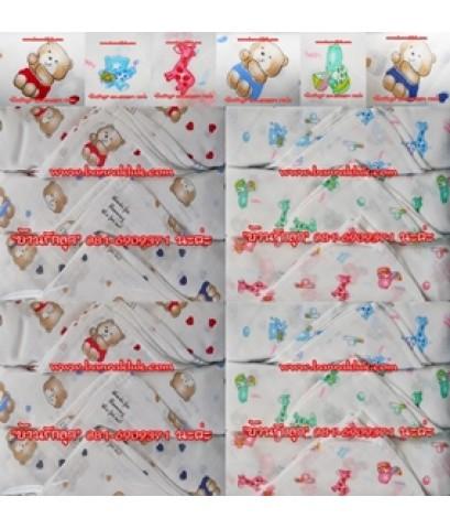 ขายส่งผ้าอ้อมสาลู (เนื้ออองฟอง-ผ้าตาราง) Size 29x29 คละลาย น่ารักน่าใช้สุดสุด (3โหล ราคา2,000บาท)