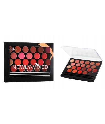 ODBO newly-mixed lipstick palette พาเลทลิปสติก 22 เฉดสีในตลับเดียว