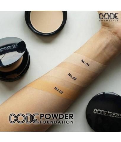 Code Powder Foundation แป้งตลับดำตัวดัง แป้งฝุ่นอัดแข็ง ไม่ผสมรองพื้น ให้เนื้อสัมผัสบางเบา