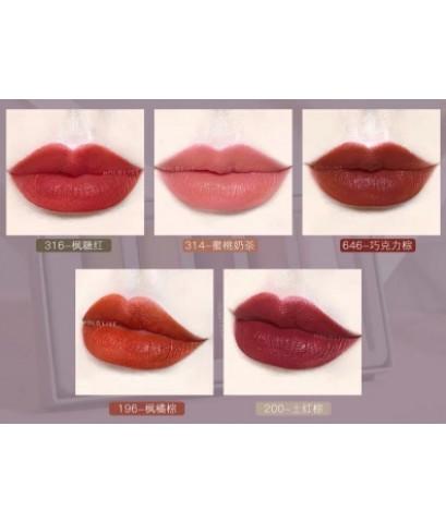 hold live lipstick matte set ลิปเนือแมท์เกาหลีแท้ สวยยกแพคทั้ง 5 แท่ง