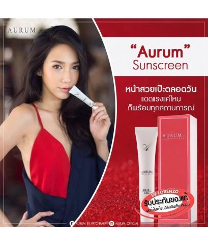 กันแดดอั้ม พัชราภา ของแท้จากบริษัท Aurum Sunscreen Ultimate Nano Sun Protection SPF50+ PA+++ ขนาด15g