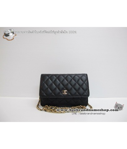 กระเป๋า ชาแนล   :: Chane Wallet on ChAiN (WOC) lambskin Top Mirror
