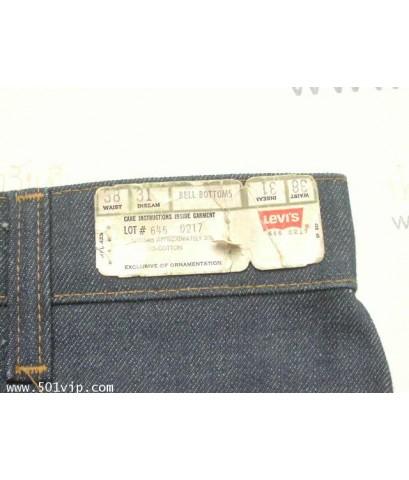 New ลีวาย 646 0217 ขาม้า ป้ายส้ม USA ปี 1979 W 38 L 31