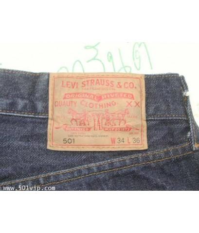 Used levi ย้อนยุครุ่นปี 1978 501 ริมแดง USA ปี 2012 เอว 34 ยาว 30