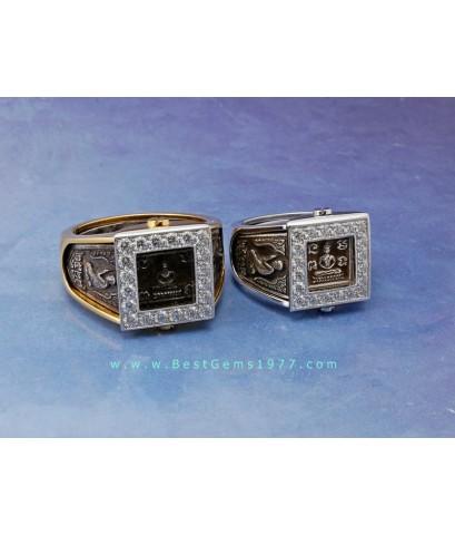 0190619_BE งานเลี่ยมแหวนสำหรับบรรจุแหวนหลวงปู่ดู่วัดสะแก สามารถถอดแหวนด้านในออกได้