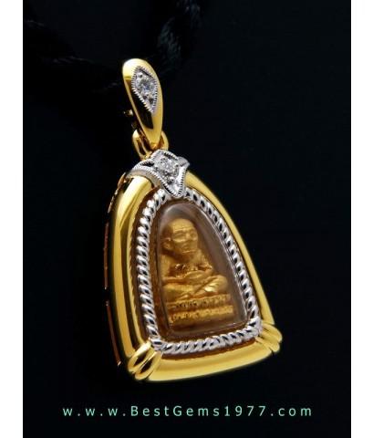 M766-2709 หลวงพ่อทวดเนื้อทองคำ รุ่นมหามงคลหลวงพ่อทวด 106ปี อาจารย์ทิม พิมพ์พระรอด