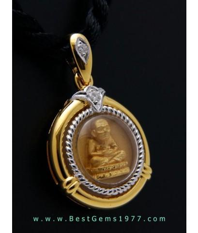 M772-2706 หลวงพ่อทวดเนื้อทองคำ รุ่นมหามงคลหลวงพ่อทวด 106ปี อาจารย์ทิม พิมพ์กลมเล็ก