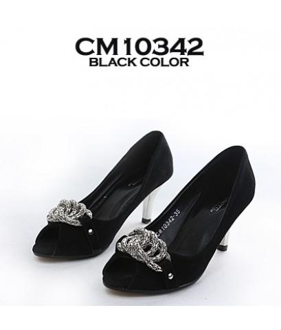 รองเท้าส้นสูง สีดำ CM10342