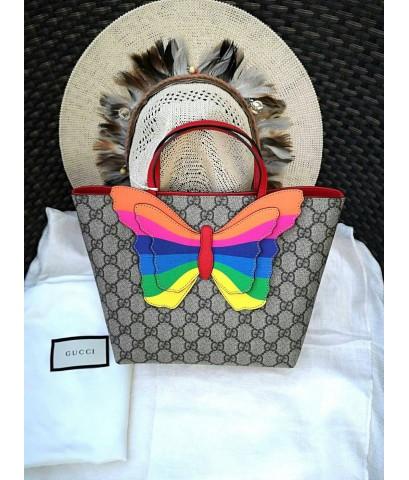 Gucci ผีเสื้อ อปก. ถุงผ้า การ์ด ของแท้