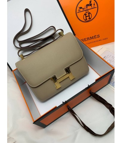 Hermes Constance Bag Oxhide Leather อะไหล่ทอง