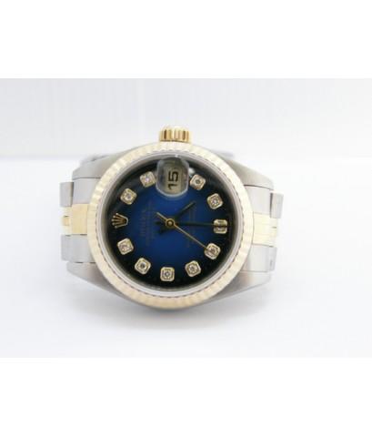 นาฬิกาโรเล็ก หน้าน้ำเงินเพชรเบ้าใหญ่ ซีรี่7