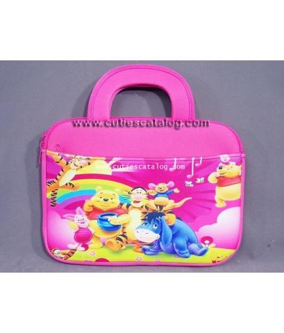 กระเป๋าใส่ไอแพดหมีพูห์ Pooh ipad case กระเป๋าใส่แท็บเล็ตหมีพูห์ Pooh Tablet case แบบนิ่ม