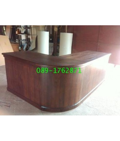 โต๊ะทำงานไม้สักตัวแอล