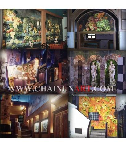 ตัวอย่างงานวาดภาพฝาผนัง mural