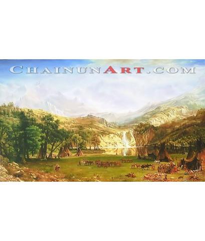 ภาพวาดวิถีชีวิตเผ่าอินเดียแดง
