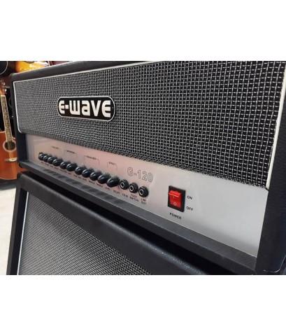 E-Wave ตู้กีต้าร์หัวเทิร์นมือสอง 120w สภาพ90 เสียงคลีนใสๆ และเสียงแตก 2 ระบบOD/DS พร้อม Delay ในตัว