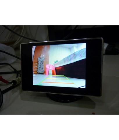 จอภาพสีขนาด 3.5quot; สำหรับกล้องมองหลังและ DVD(2AV)
